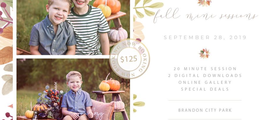 Fall Mini Sessions | Brandon