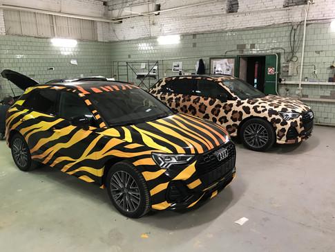Оклейка автомобиля ауди Q3