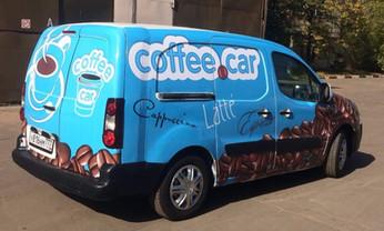 Брендирование мобильной кофейни