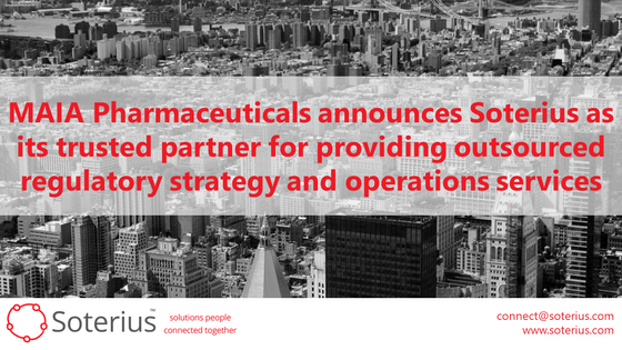 MAIA Pharmaceuticals Announces Soterius As Its Trusted Partner