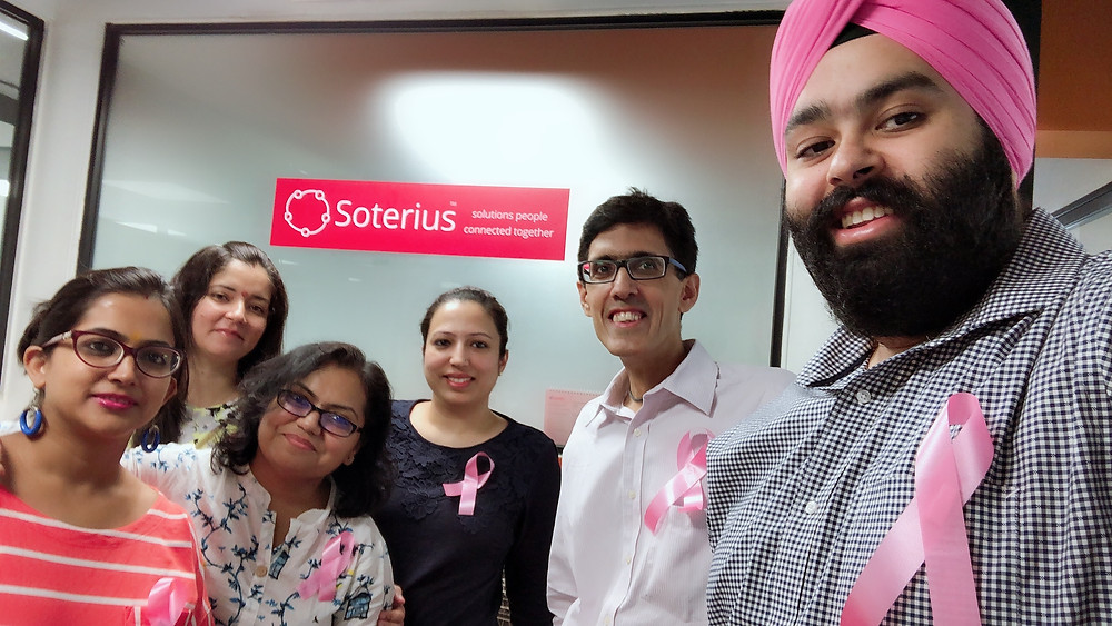Team Soterius supporting the Breast Cancer awareness campaign