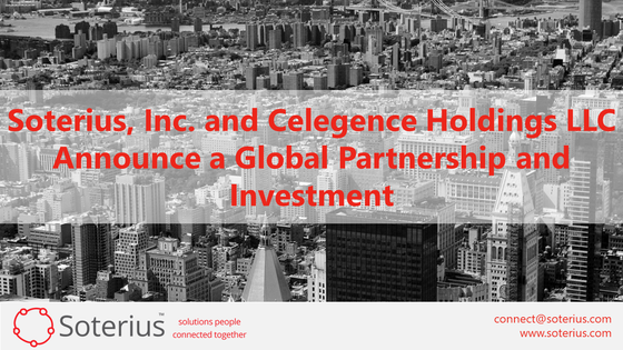Soterius and Celegence Announce a Global Partnership and Investment