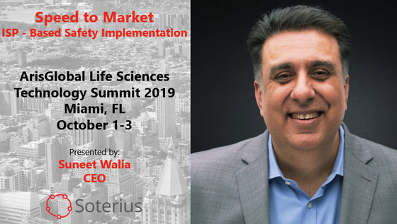 Soterius to present at Aris Global Life Sciences Technology Summit 2019