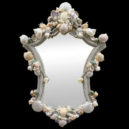 Mirror Curvy Queen Swarovski Crystal & Shell 28x41