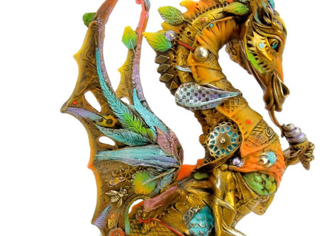 Master sculptor Nano Lopez at Enchantress Gallery Maui