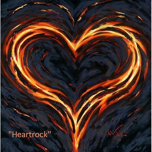 """""""Heart Rock"""" by Walfrido 36x36 (#11 of 25 AP)"""