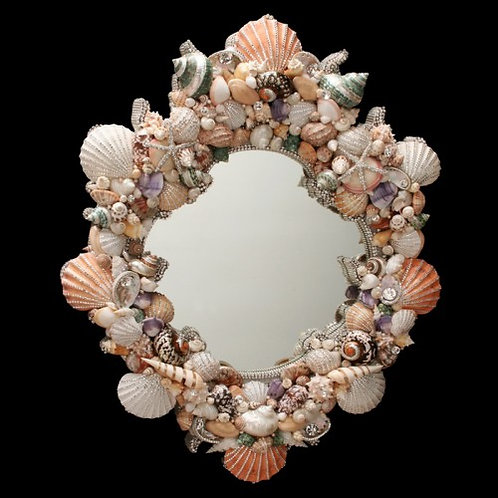 Mirror Shells and Swarovski Crystals 32x40