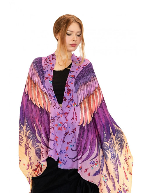Scarf/Wrap Lavender Wings