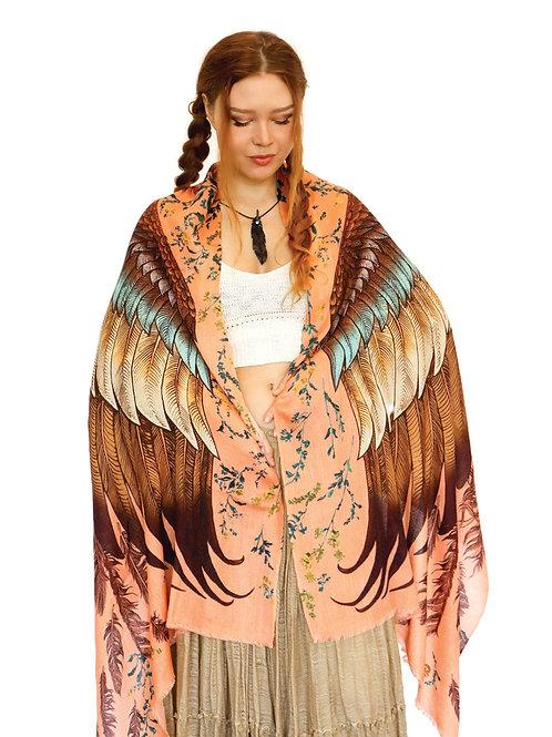 Scarf/Wrap Peach wings Silk Satin