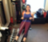 Personal Training in downtown DC private studio, doing a fun workout with Ariel