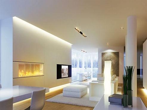Super schön Beleuchtetes Wohnzimmer
