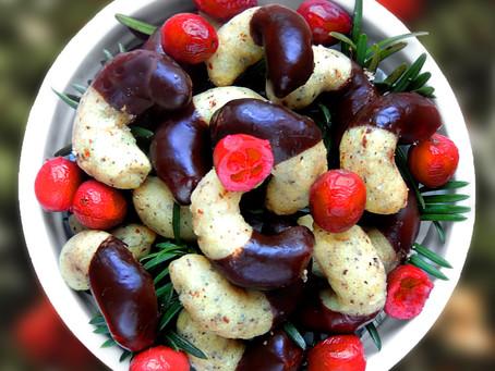 Ořechové rohlíčky v čokoládě