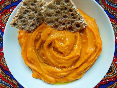 Hummus z červené čočky a pečeného česneku