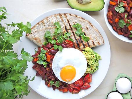 """Farmářská vejce """"Huevos rancheros"""""""