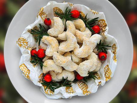 Křehké vanilkové rohlíčky
