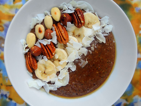 Čoko kaše s ořechy a kokosem
