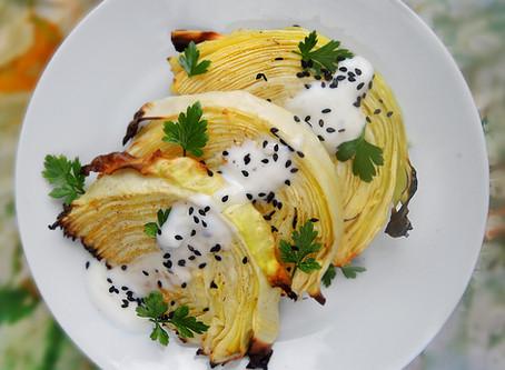 Pečené zelí s česnekem