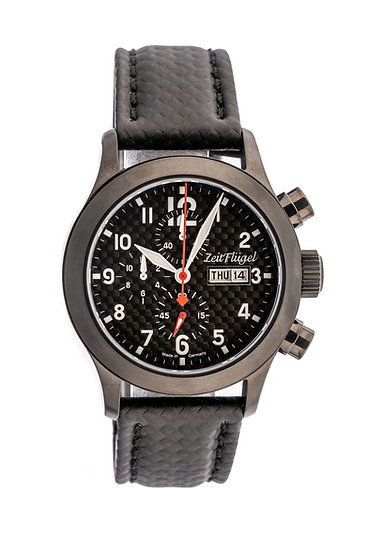 Flieger II Carbon Modell 4 Quarz Chrono