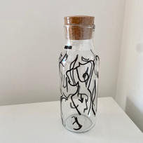 Nude Painted Glass Carafe