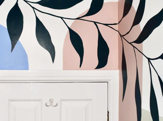 bathroom mural zoomed in