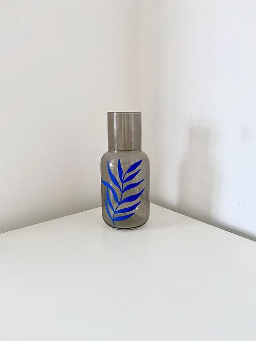 VASE glass grey - LEAF