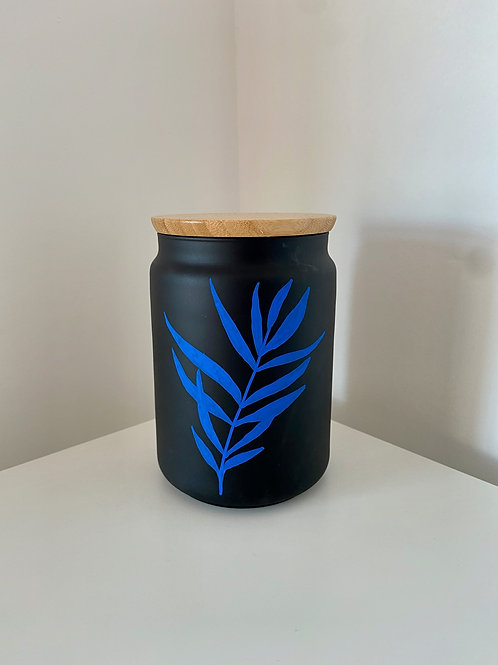LEAF Black container with lid