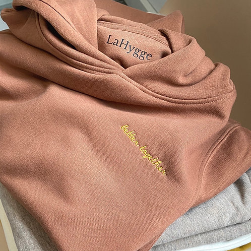"Hoodie ""better together"" Farbe Caramel"