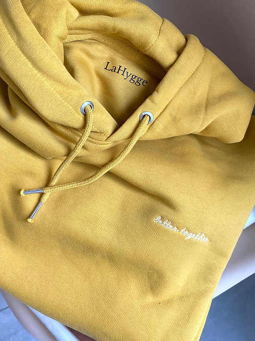 """Hoodie """"better together"""" Farbe Ochre"""