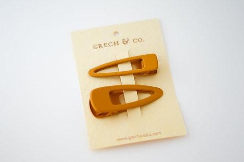 Grech &Co. Haarspangen 2er Set  Matte - Gold -