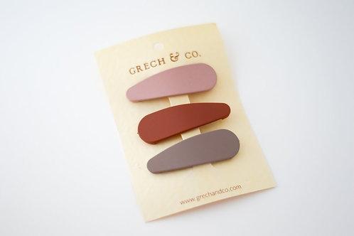 Grech & Co. Haarspangen 3er Set Snap - Shell -