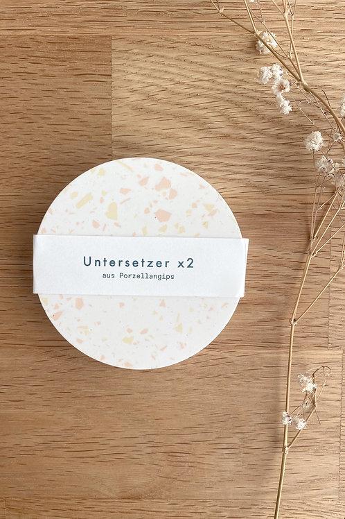 2 x Untersetzer /Weiß