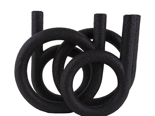 Kerzenhalter Ring Black