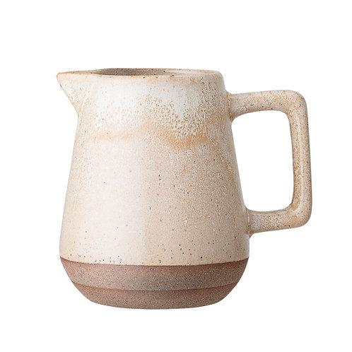 Columbine Milk Jug, Nature, Stoneware