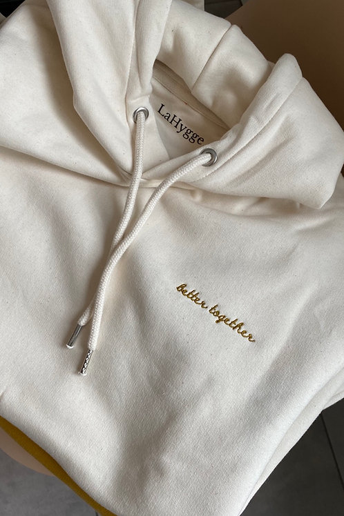 """Hoodie """"better together"""" Farbe Natural Raw"""