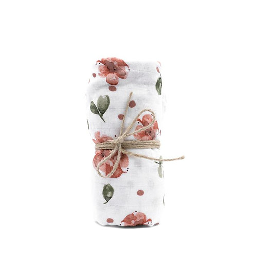 Mulltuch Bio-Baumwolle 120x120cm • Vintage Rose