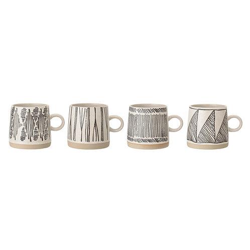 Eliana Mug, Black, Stoneware