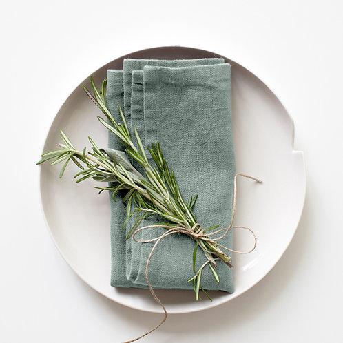 Leinen Servietten Set Green Milieu  45x45