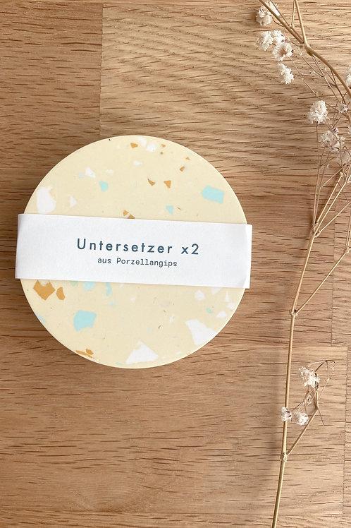 2 x Untersetzer /Vanille
