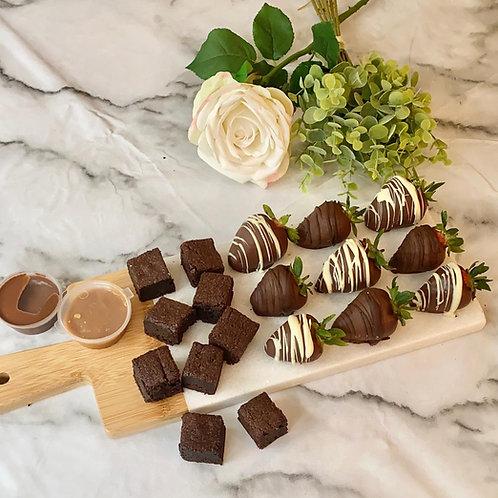 Chocolate and Strawberry Brownie Box