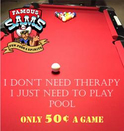 50¢ Pool Tables