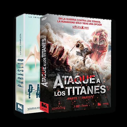 Ataque a los Titanes + Parásito (DVD)