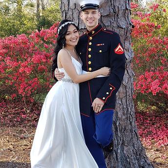 Military wedding at Wilson Bay Donna Bro