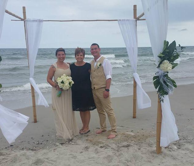 Emerald Isle Beach Wedding
