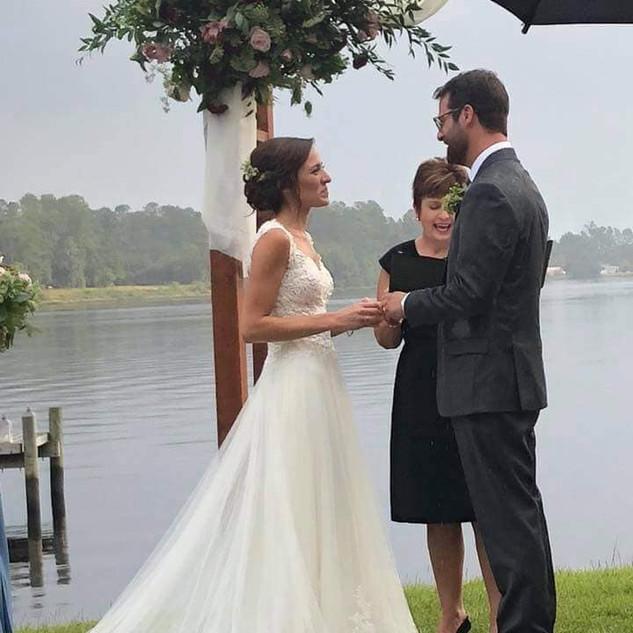 Wedding on the water in Hubert, North Carolina