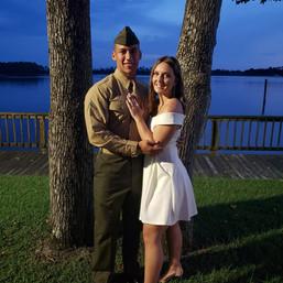 Military wedding at Wilson Bay Park Jack