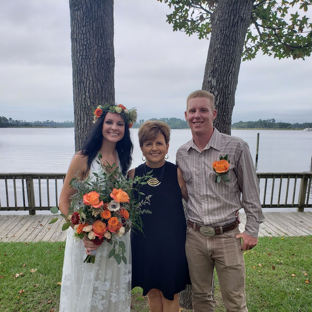 Donna Brown with Wedding Couple.jpg
