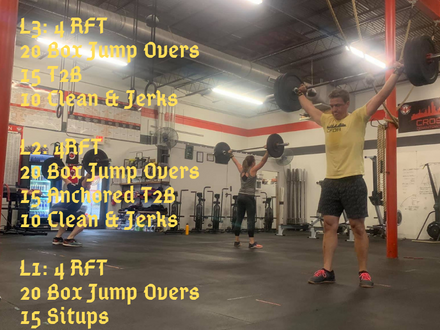 WOD for June 10, 2018