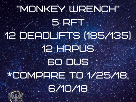 WOD for June 9, 2018