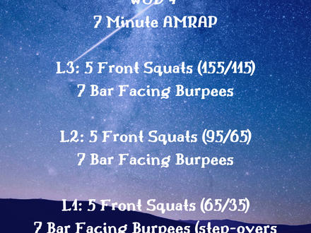 WOD for June 3, 2018