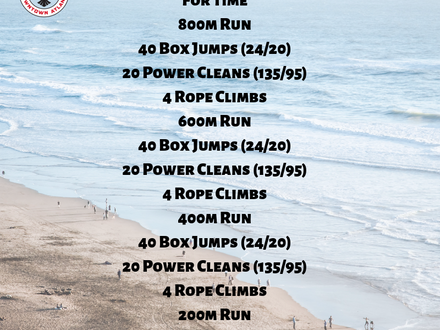 WOD for June 8, 2018